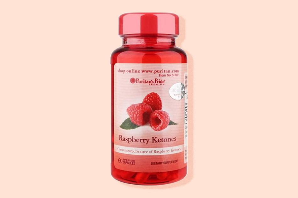 Puritan's Pride raspberry ketones 100mg dạng viên uống hỗ trợ giảm mỡ một cách hiệu quả