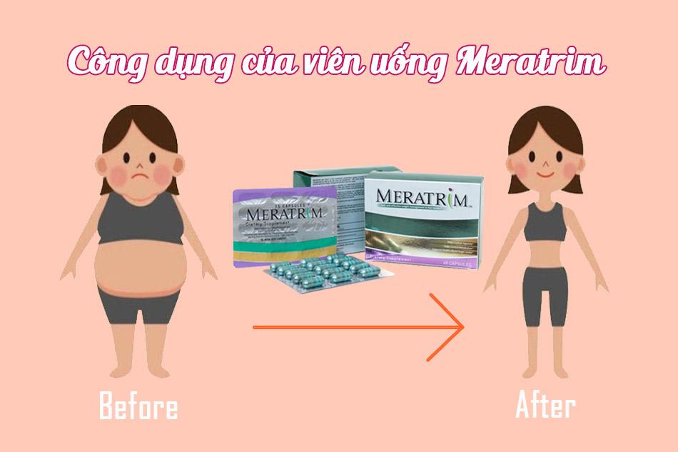 Công dụng của viên uống giảm cân Meratrim